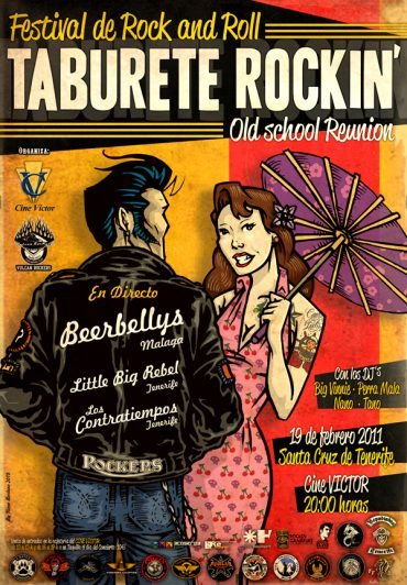 Taburete Rockin' Festival 19 Febrero 2011