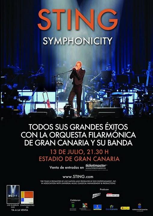 Sting Symphonicity 13 de julio de 2011 en Las Palmas de Gran Canaria