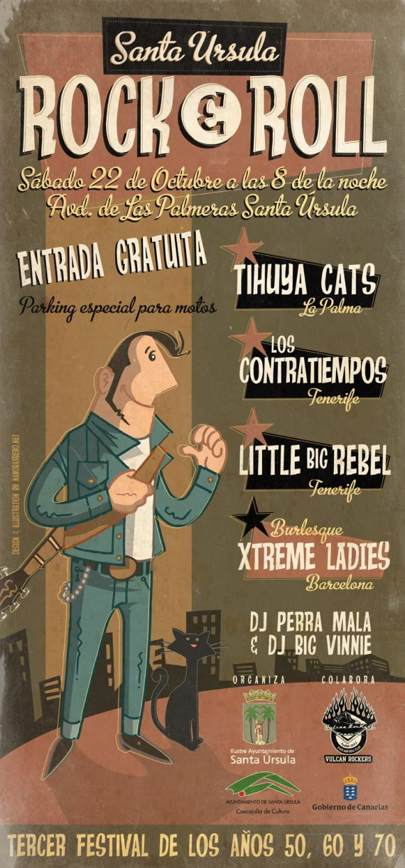 Cartel Santa Úrsula Rock and Roll