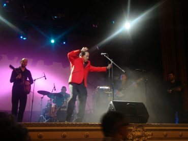 Sir Joe Quarterman With Jezebel Sextet durante su actuación el 26 de febrero de 2011 en Tenerife