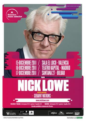 Nick Lowe, gira española 2011