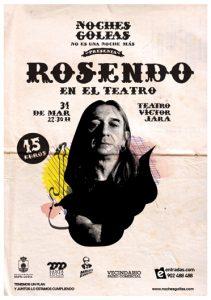 Rosendo, 31 de marzo en concierto, Vecindario, Gran Canaria