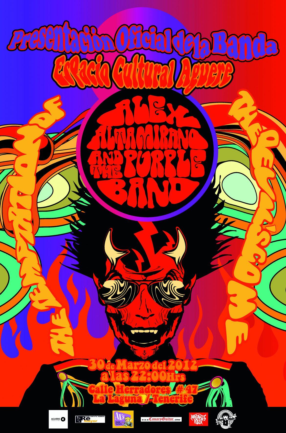 """Alex Altamirano & The Purple Band, """"The Temptation of the devil's come"""" 2012"""