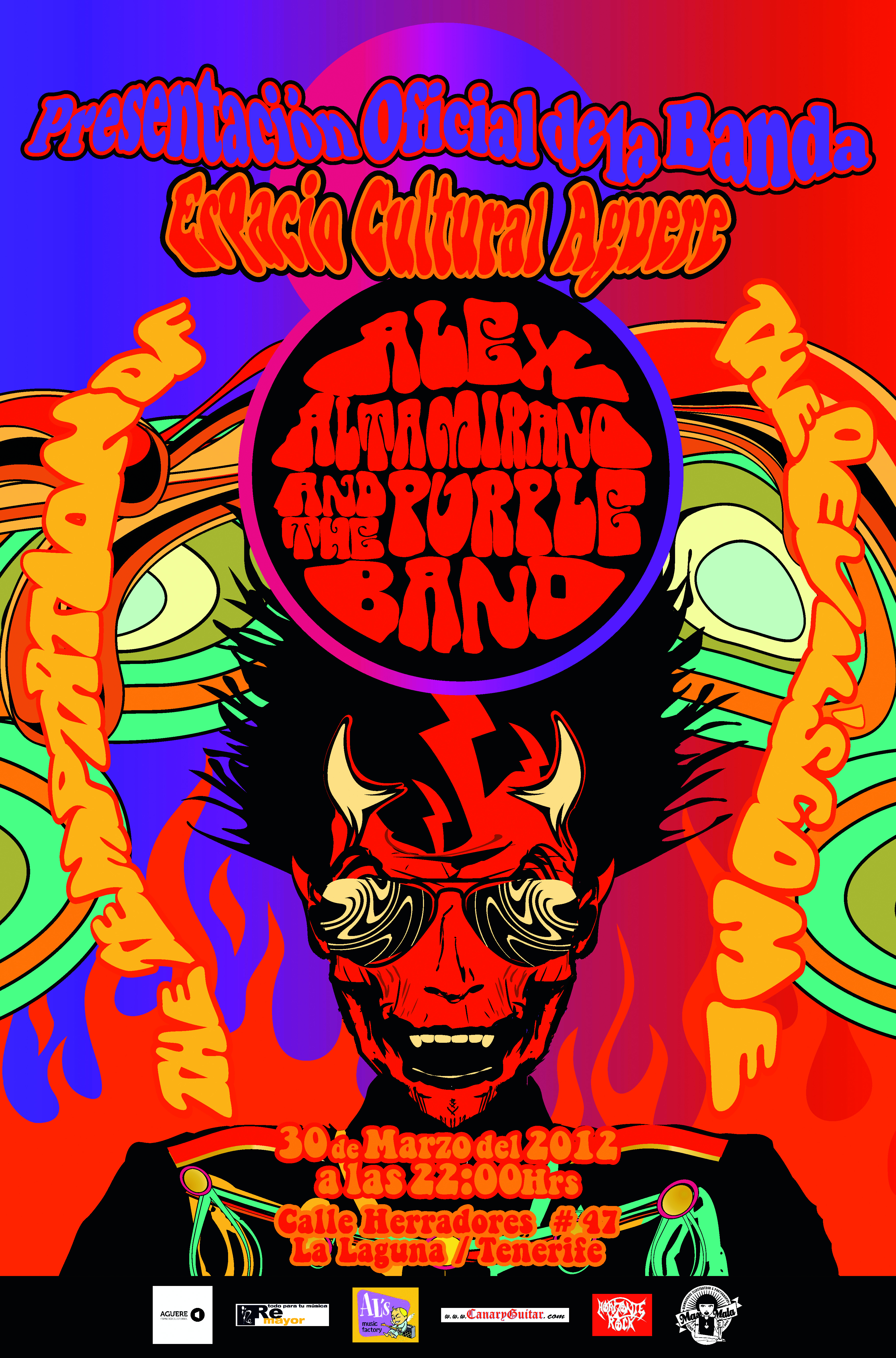 "Alex Altamirano & The Purple Band, ""The Temptation of the devil's come"" 2012"