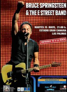 Bruce Springsteen & The E Street Band Estadio de Gran Canaria Las Palmas 15 mayo 2012