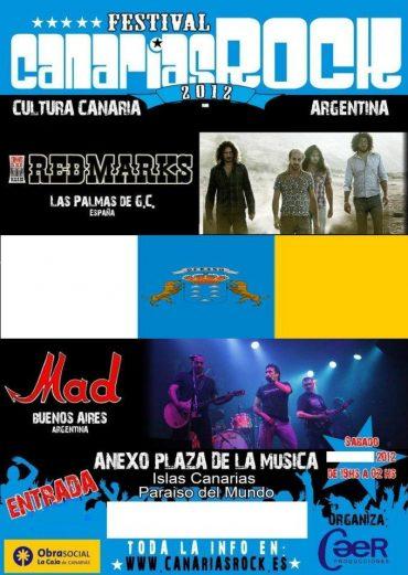 El festival Canarias Rock 2012 que organiza Caer Producciones