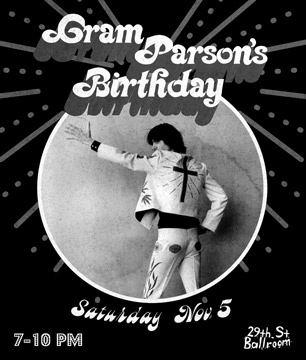 Gram Parsons, 65 aniversario.