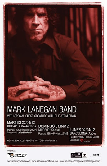 Mark Lanegan Band, gira española 2012