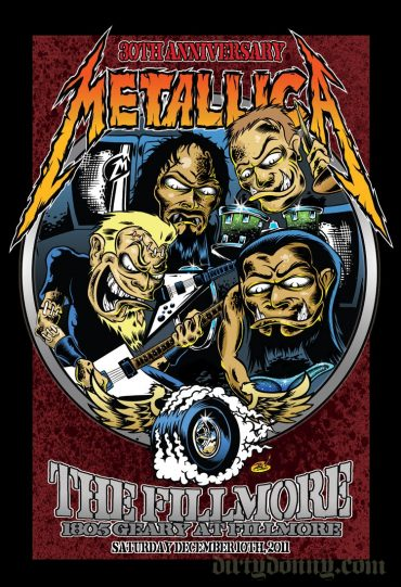 Metallica, 30 aniversario, The Fillmore, San Francisco 2011