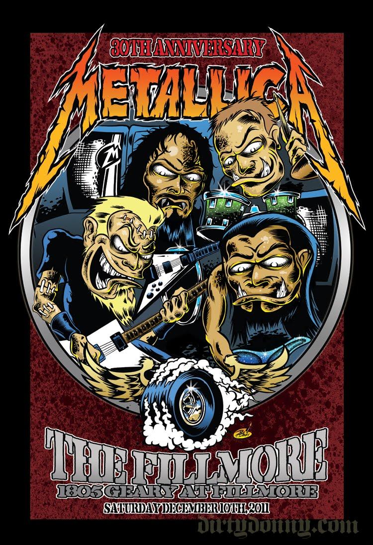 Metallica, 30 aniversario, The Fillmore, San Francisco 2011