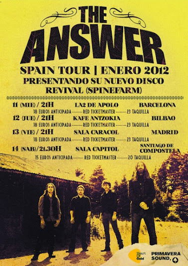 The Answer, Spanish Tour 2012, Revival Spinefarm