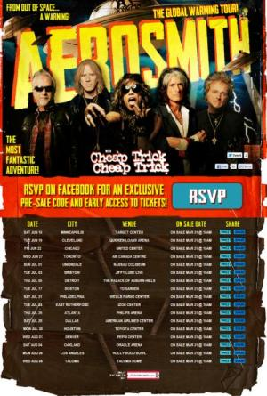The Global Warming Tour 2012 Aerosmith y Cheap Trick
