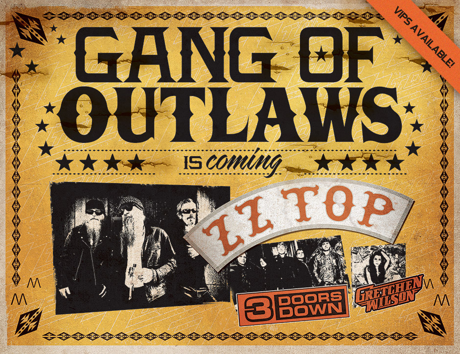 """ZZ Top, """"Gang of Outlaws Tour 2012"""""""