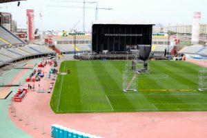 Fotos del Estadio de Gran Canaria, en Las Palmas a día de hoy para el concierto de Bruce Springsteen & The E Street Band. Fotos de nuestro compañero de Dirty Rock, Esteban Campos Trujillo.