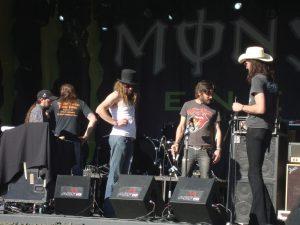 Dirty York en la pasada edición del Azkena Rock Festival 2011 antes de su actuación.