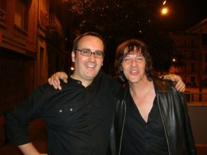 Sergio Ortiz, cantante de  Smoking Stones junto Carlos Pérez Báez, Dirty Rock