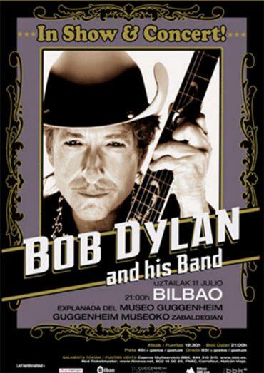 Bob Dylan en el Museo Guggenheim de Bilbao, en el Cap Roig y Festival Internacional de Benicàssim