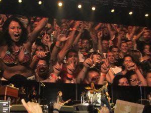 Bruce Springsteen & The E Street Band y su público en Las Palmas de Gran Canaria 15 mayo de 2012