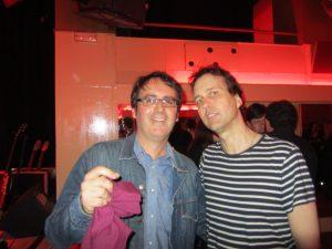 Chuck Prophet y Carlos Pérez Báez de Dirty Rock el pasado 7 de mayo en Madrid