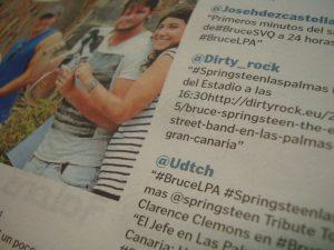 Dirty Rock en la de prensa de Gran Canaria para ver a Bruce Springsteen & the E Street Band en Las Palmas