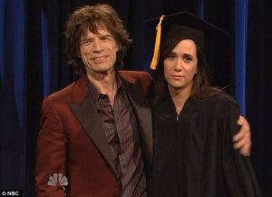 Mick Jagger y Kristen Wiig del Saturday Night Live 2012