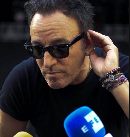 Rueda de Prensa de Bruce Springsteen en el Estadio Olímpico de La Cartuja, Sevilla.