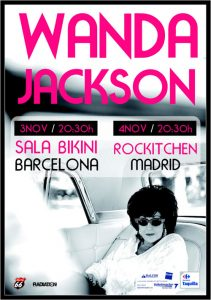 Wanda Jackson el pasado año en Barcelona y Madrid, además de Torremolinos