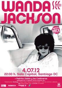 Wanda Jackson en la Sala Capitol de Santiago Compostela, 4 de julio de 2012