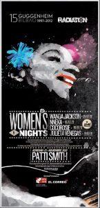 Women's Nights con Wanda Jackson y Patti Smith en el Guggenheim, Bilbao 3 de julio 2012