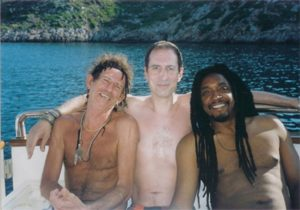 Keith Richards, Gay Mercader y Bernard Fowler. Live Nation. Live Music Experience 2012