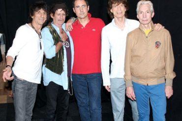 Gay Mercader con The Rolling Stones. Exposición Live Music Experience 2012
