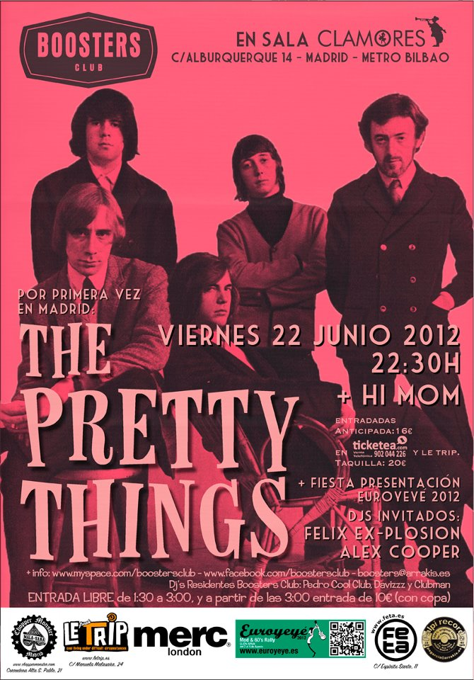 The Pretty Things España Madrid 2012