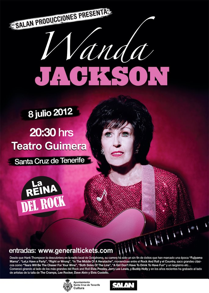 Wanda Jackson Teatro Guimerá 8 julio Santa Cruz de Tenerife 2012