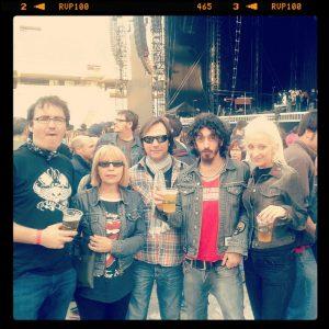 Dirty Rock con Oscar Moon, Conchi, Jordi Güell, Oscar Moon y Marta. The Rolling Stones 50 Anniversary 2012