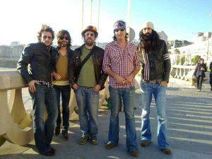 Iñaki Estévez Muñiz (Primero a la izquierda) con Jonny Kaplan & The Lazy Stars.The Rolling Stones 50 Anniversary 2012