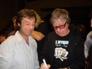 Jordi Güell y Bill Wyman de The Rolling Stones en un reciente concierto en Barcelona, Luz de Gas 16 junio 2012