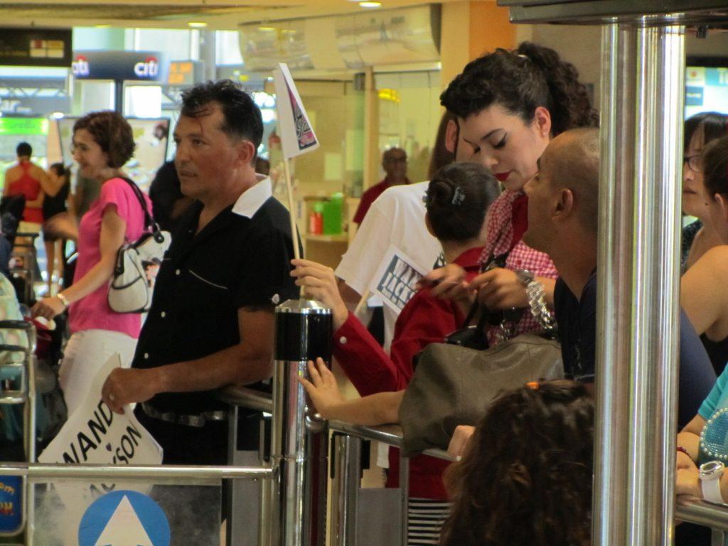 Manolo Vulcan de Vulcan Rockers Tenerife, esperando a Wanda Jackson