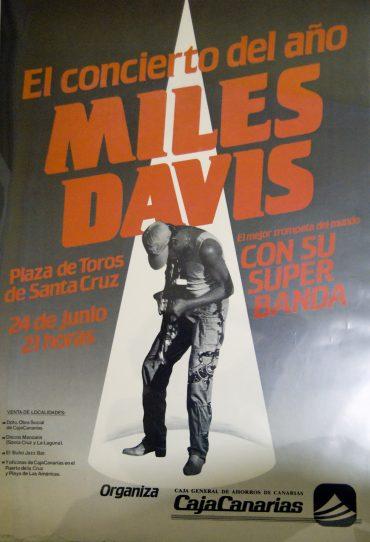 Miles Davis en concierto en Santa Cruz de Tenerife 24 de junio de 1987 con Darryl Jones (The Rolling Stones) 50 aniversario The Rolling Stones 2012