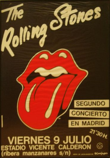 The Rolling Stones Madrid 1982 poster 7 y 9 de julio 1982