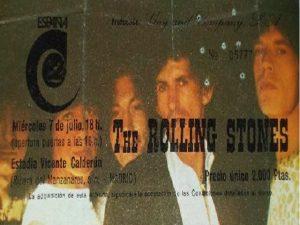 The Rollling Stones Madrid 7 de julio 1982 Estadio Vicente Calderón