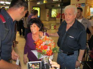 Wanda Jackson y Wendell Goodman llegan a Tenerife 7 de julio de 2012