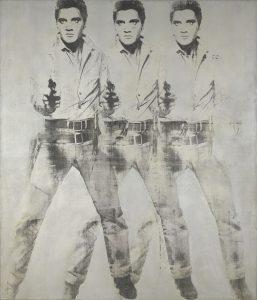 Elvis Presley 35 aniversario de su muerte, 16 de agosto de 2012. Cuadro de Andy Warhol
