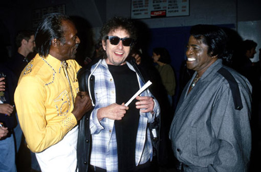 Chuck Berry, Bob Dylan y James Brown. 50 aniversario de Bob Dylan. Tempest 2012