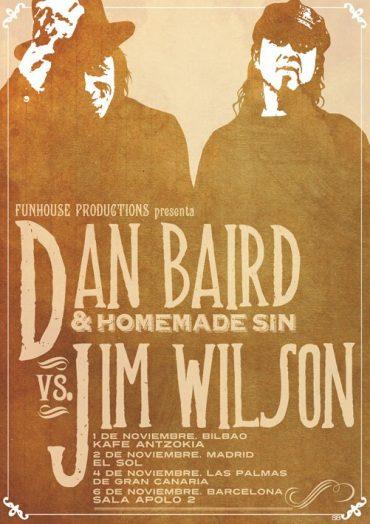 Concierto conjunto de Jim WIlson y Dan Baird en Las Palmas de Gran Canaria cancelado