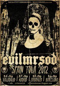 EvilMrSod Spain Tour Gira española 2012 Valladolid, Madrid, Zaragoza y Barcelona