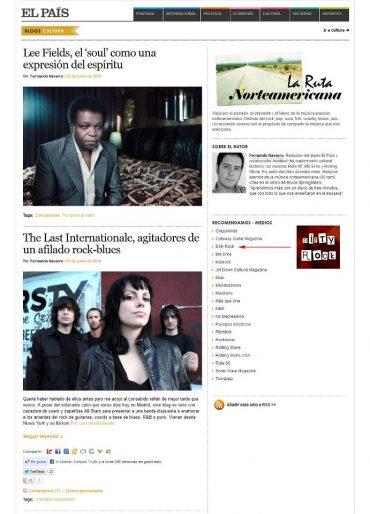 Fernando Navarro La Ruta Norteamericana de El País recomienda Dirty Rock 25 junio 2012