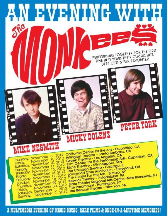 Gira norteamericana de The Monkees en noviembre de 2012