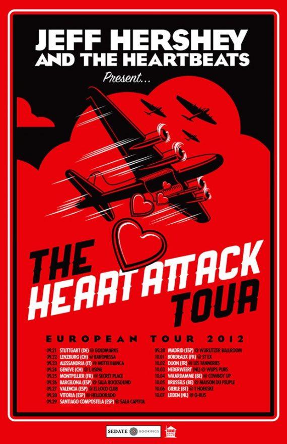 Jeff Hershey & The Heartbeats gira europea y española en septiembre