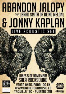 Jonny Kaplan & Abandon Jalopy (Brad Smith Blind Melon) Sala Rocksound Barcelona 5 noviembre 2012