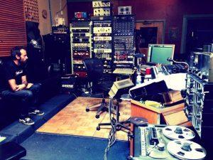 Los Coronas grababando en Tucson Arizona WaveLab Recording Studios